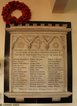 Edenfield Parish Church - War Memorial